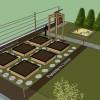 Conception et plans du nouveau jardin