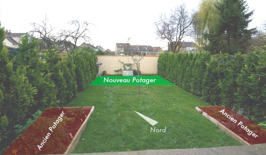 implantation du jardin