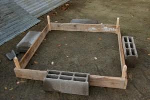 Assemblage du potager en carré