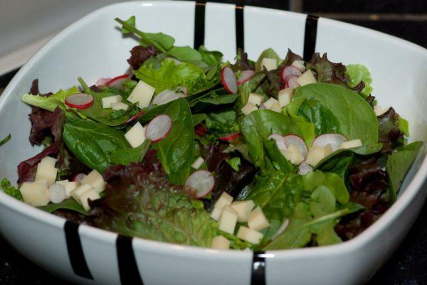 Une salade printanière