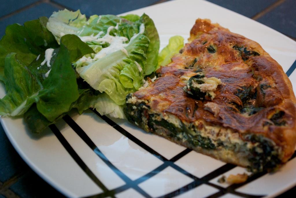Recette de quiche pinards et thon - Recette quiche saumon epinard ...