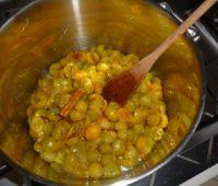 première cuisson des mirabelles