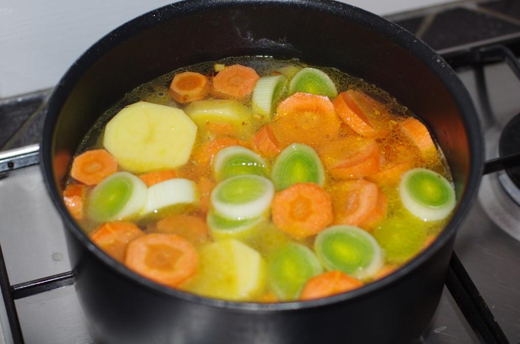Recette de potage de l gumes d 39 automne - Cuire les chataignes a l eau ...