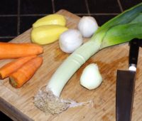 Les légumes pour le potage
