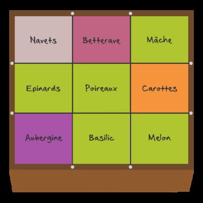 Planification des cultures pour septembre et octobre dans le premier carré