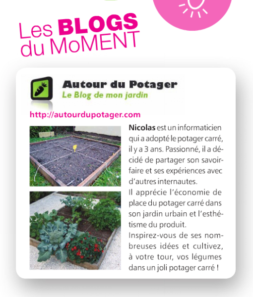 Autour du potager dans Truffaut magazine