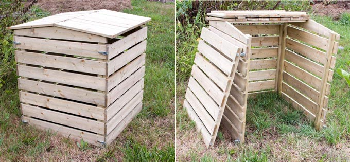 Composteur design robuste en bois