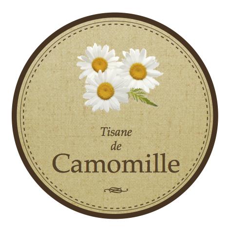 Etiquette pour camomille séchée