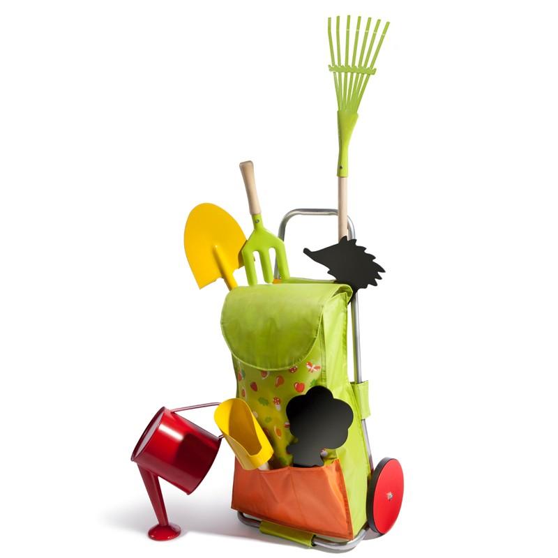 set de jardinage pour enfants autour du potager