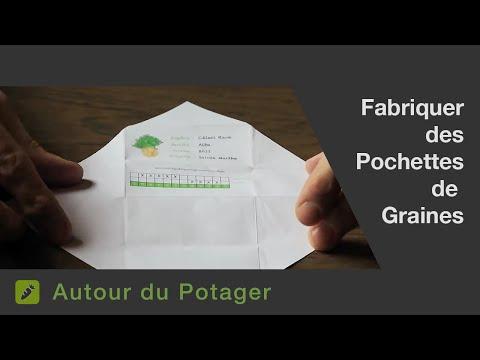 la fabrication de pochettes sachets en papier pour vos graines. Black Bedroom Furniture Sets. Home Design Ideas