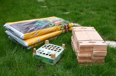 Le matériel nécessaire à l'installation de a tour