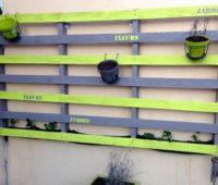 Recup palette au jardin
