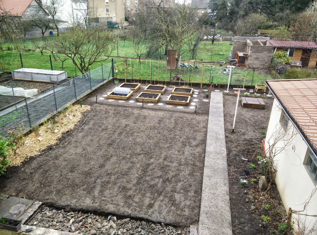 Un point sur l 39 avancement des travaux au jardin potager for Jardin potager 2015
