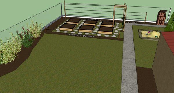 Modélisation du jardin et de ses aménagements