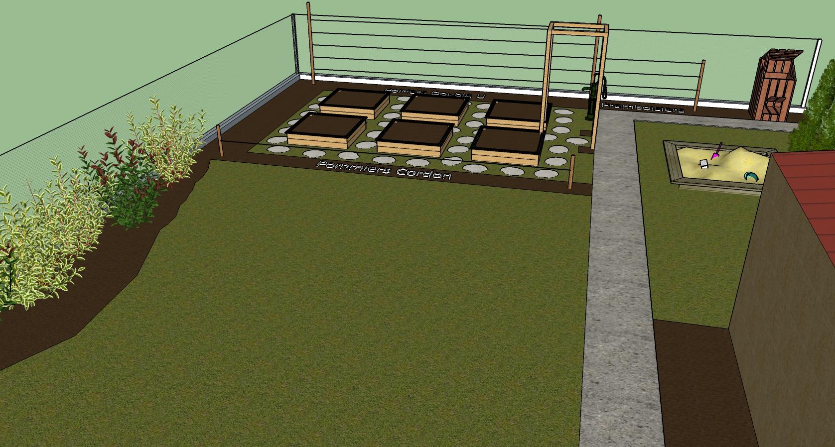 Plan du jardin autour du potager for Application plan jardin