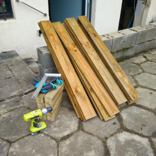 planche douglas construction potager