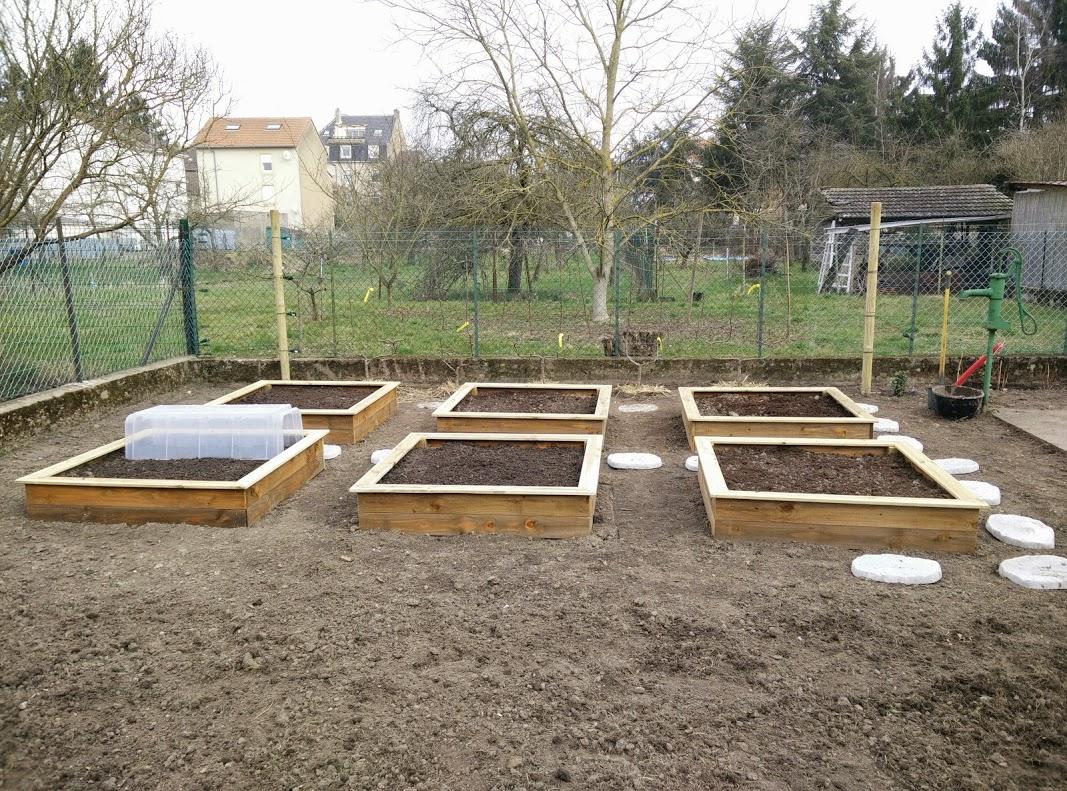 Un point sur l 39 avancement des travaux au jardin potager - Jardin en carre ...