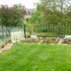 jardin avec potager en carrés