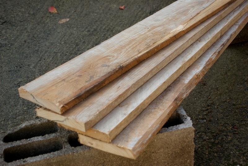 Planches qui serviront à la construction d'un carré