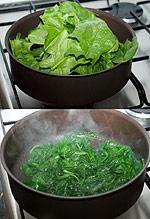 épinards après cuisson