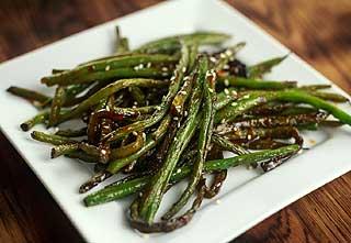haricots verts cuisinés