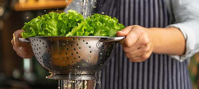la salade en cuisine