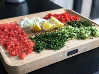 Taboulé maison avec les légumes du potager