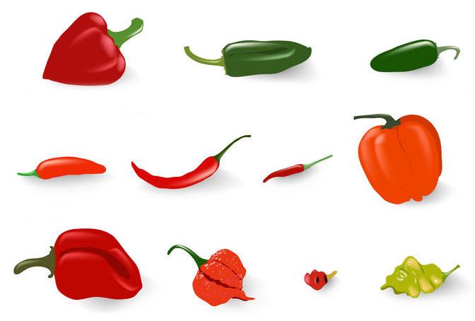 Les différentes variétés de piment