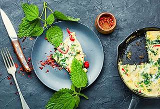 Omelette à base d'ortie