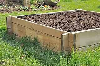 terre pour remplir le potager
