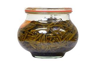 Salicornes au vinaigre de la conserverie Saint Christophe.