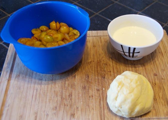 Les ingrédients de la tarte aux mirabelles