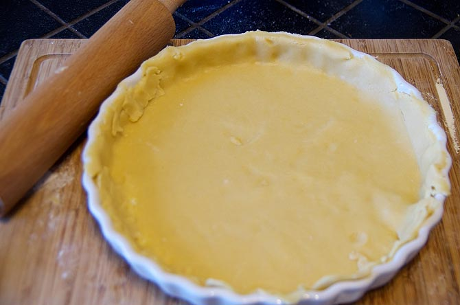 Fond de tarte dans le moule